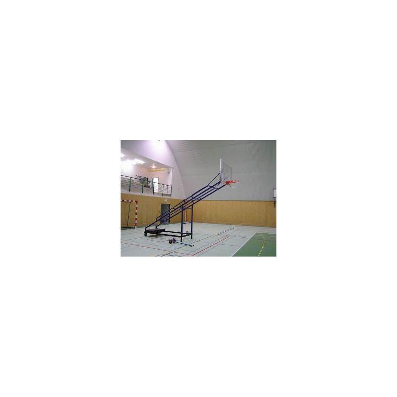 Basketbalová deska 105 x 180 cm, průhledná, POLYKARBONÁT