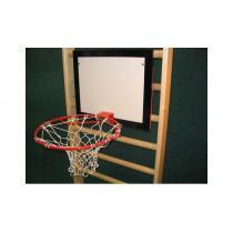 Basketbalová deska 60x50 cm s košem a síťkou, interiér
