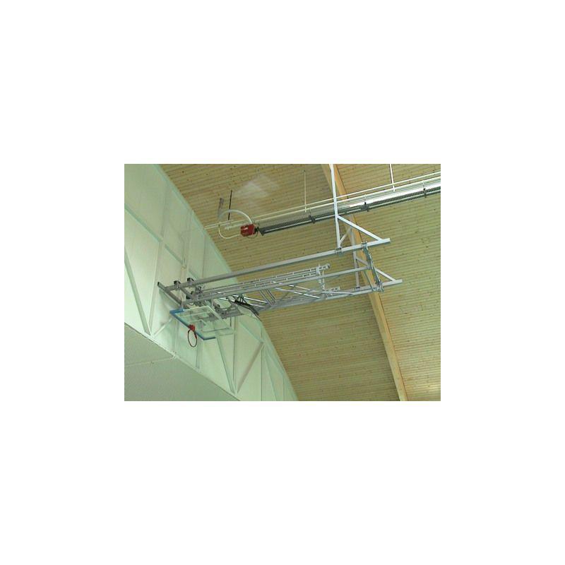 Basketbalová konstrukce elektricky sklopná pod strop do 12m