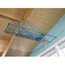 Basketbalová konstrukce elektricky sklopná pod strop do 9m