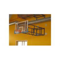 Basketbalová konstrukce otočná, interiér, vysazení od 2,5m do 4m