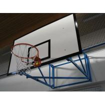 Basketbalová konstrukce pevná, interiér, vysazení od 1,8m do 3,5m