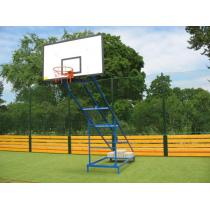 Basketbalová konstrukce pojízdná, exteriér, sklopná-skládací, vysazení 2 m