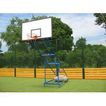 Basketbalová konstrukce pojízdná - mobilní, exteriér, pevná, vysazení 2 m