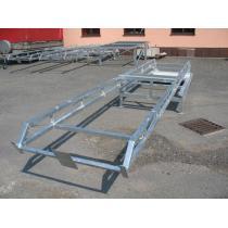Basketbalová konstrukce pojízdná - žár zinkovaná, exteriér, sklopná, vysazení 2 m