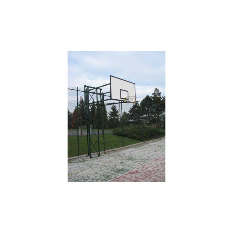 Basketbalová konstrukce příhradová, otočná, vysazení 2,5 až 4 m ( KOMAXIT )