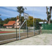 Basketbalová konstrukce streetball - exteriér (ZN), vysazení 1,45 m + ocelová deska, CERTIFIKÁT