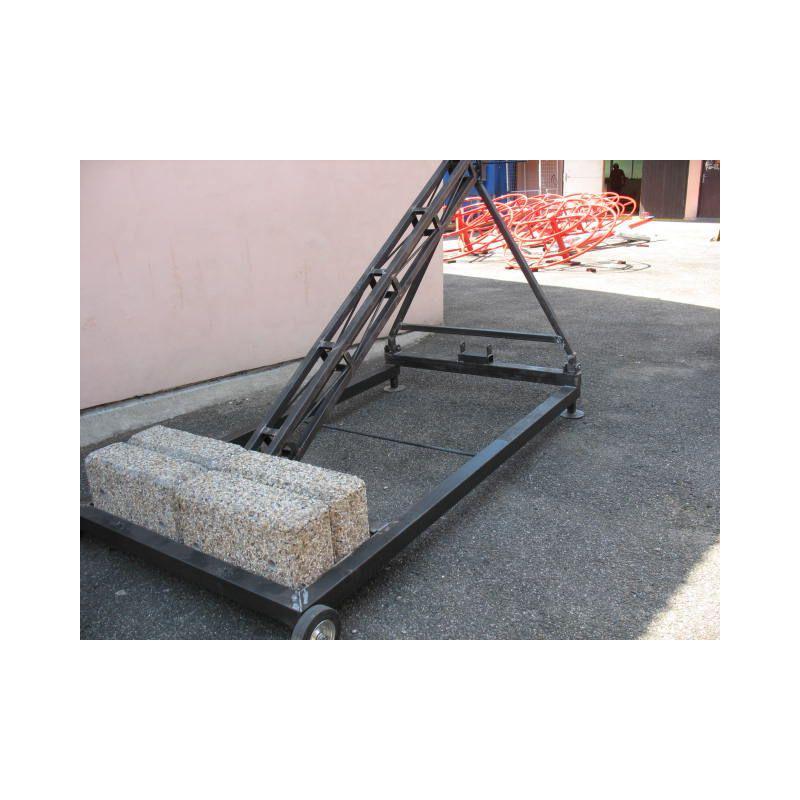 Basketbalová konstrukce streetball pojízdná - mobilní se závažím - exteriér (ZN), vysazení 2,25 m