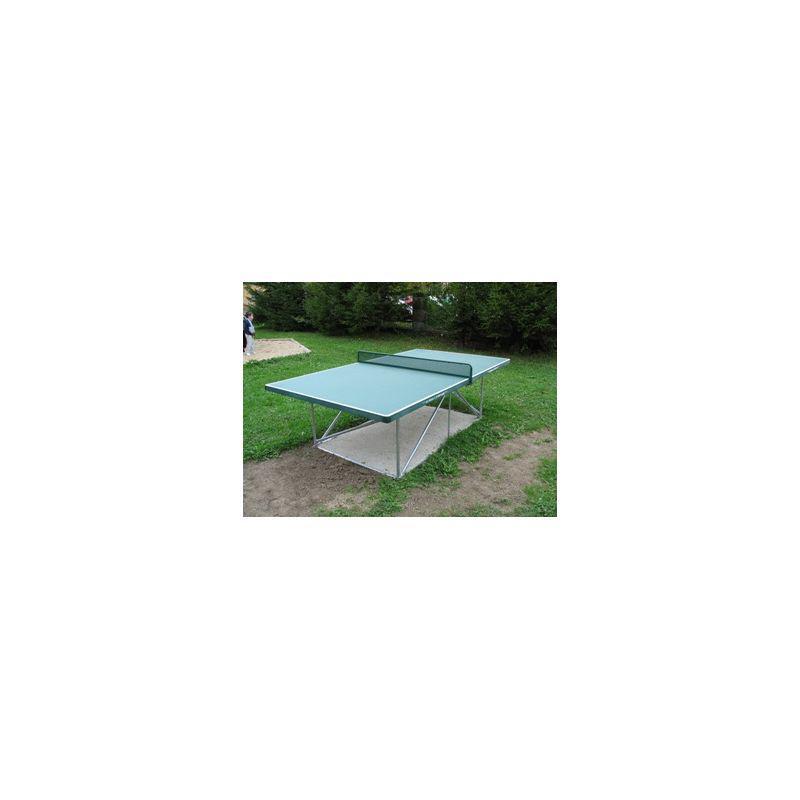 Betonový stůl na stolní tenis, kovové nohy POZINK, bez síťky