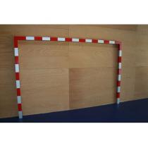 Branka na házenou 2x3 m AL, pouze samostatný rám bez držáků sítí - interiér + exteriér
