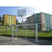 Branka na házenou 2x3m, skládací (ZN) + basketbal