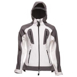 Dámská softshellová bunda NORwear DANIELLA s kapucí, bílá