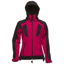 Dámská softshellová bunda NORwear DANIELLA s kapucí, malinová