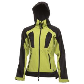 Dámská softshellová bunda NORwear DANIELLA s kapucí, zelená