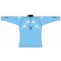 Dámský svetr Norlender GURI se sobem, modrý, norský vzor