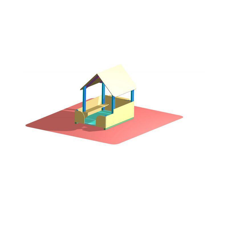 Domeček pro Lumpíky - s terasou (DHL 17)