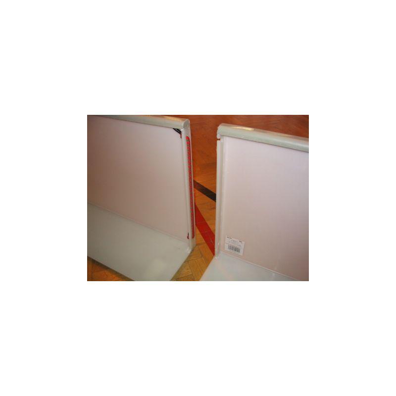 Florbalové mantinely (40 x 20 m) bez certifikátu, bílé
