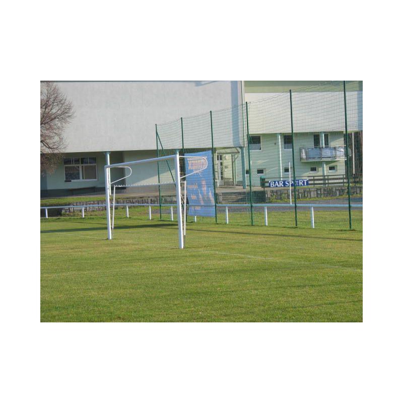 Fotbalová branka 7,32 x 2,44m, rozkládací, prům.102 mm, ocelová (komaxit), do pouzder