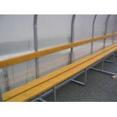 Hráčská kabina SC 4m, AL konstrukce + polykarbonát