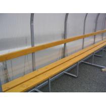 Hráčská kabina SC 4m, ocelová zinkovaná konstrukce + polykarbonát