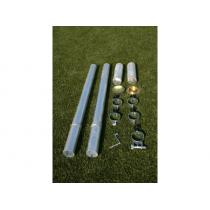 Nohejbalové sloupky do pouzder pr.102mm (ZN)+pouzdra+víčka CERTIFIKÁT
