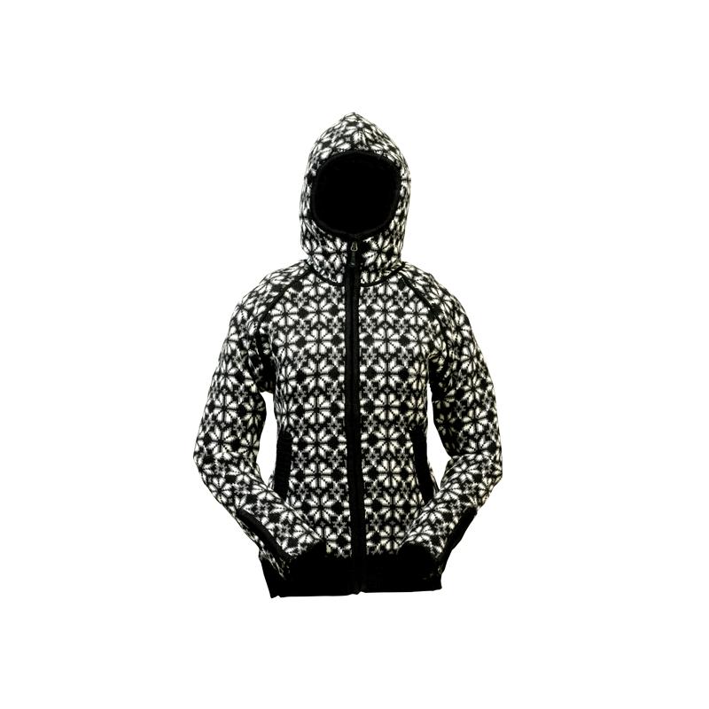 Norský dámský svetr Helga s kapucí černý