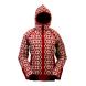 Norský dámský svetr Helga s kapucí červený