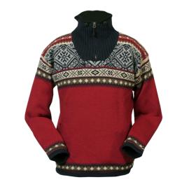 Norský pánský svetr Bergen červený