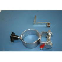Objímka s kolovrátkem na sloupek  prům.102mm (ZN)