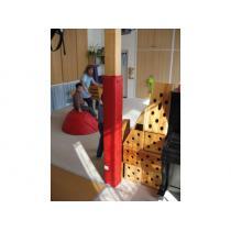 Obložení sloupu tělocvičny rozm.35 x 35 cm, výška 200 cm