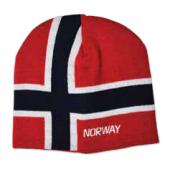 Pletená čepice s norskou vlajkou