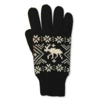 Pletené prstové rukavice s losem