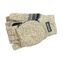 Pletené rukavice Thinsulate s přetahovacím dílem - béžové