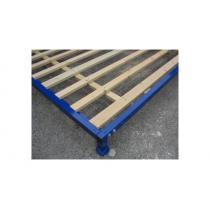 Pojízdná hliníková-AL konstrukce 200x340 cm pod doskočiště  (+ dřevěný rošt)