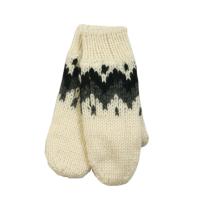 Ručně pletené rukavice palčáky - dámské bílé