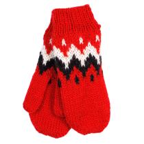 Ručně pletené rukavice palčáky - dámské červené