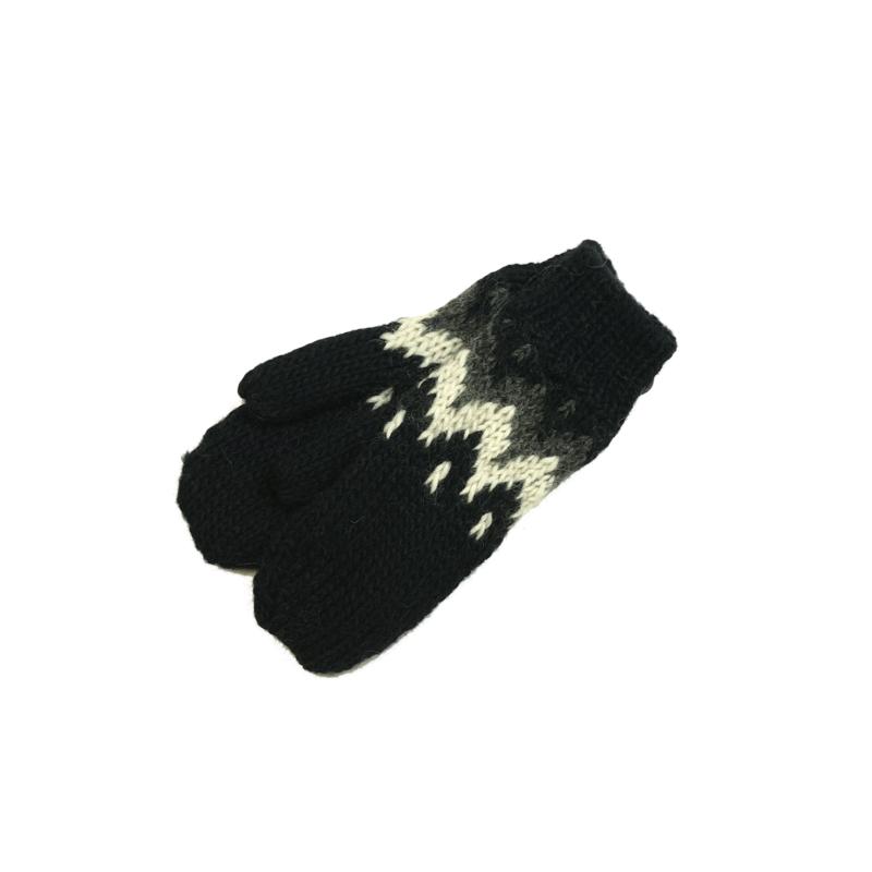 Ručně pletené rukavice palčáky - pánské černé