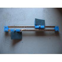 Startovní blok-školní, na škváru,tréninkový,ocelové tělo, umělohmotné opěrky nohou
