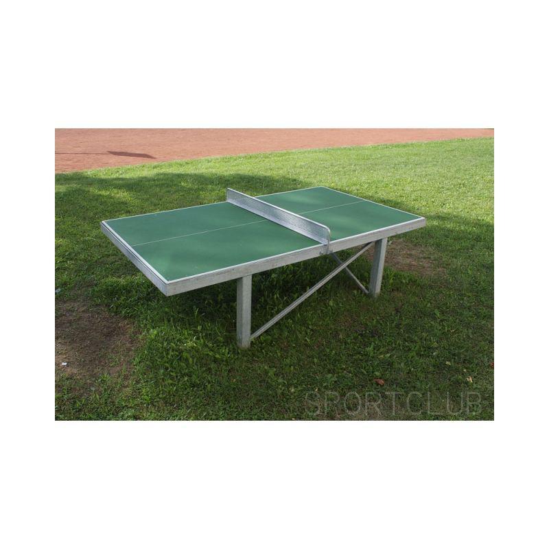 Stůl na stolní tenis venkovní - pevné nohy-hranatý profil, bez síťky
