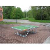 Stůl na stolní tenis venkovní - skládací nohy-kulatý profil, bez síťky
