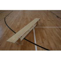 Švédská lavička tělocvičná s kladinkou, délka 2.7 m, lakovaná, hranol na žebřinu