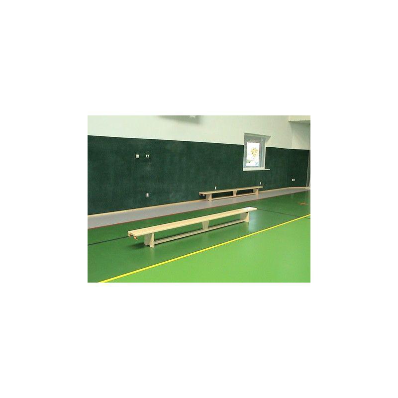 Švédská lavička tělocvičná s kladinkou, délka 3,6 m, lakovaná, háky na žebřinu