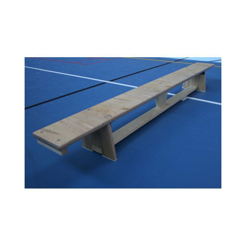Švédská lavička tělocvičná s kladinkou, překližková, délka 2.5 m, lakovaná, hranol na žebřinu