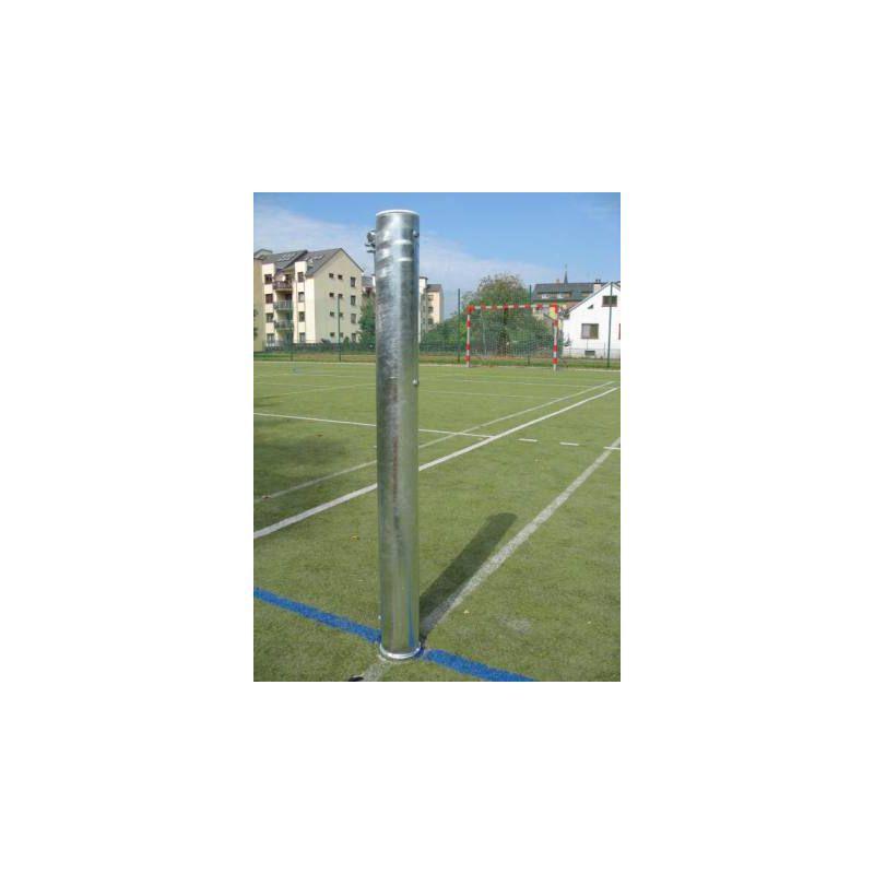 Tenisové sloupky - exteriér (ZN) prům.102 mm + pouzdra a víčka, CERTIFIKÁT