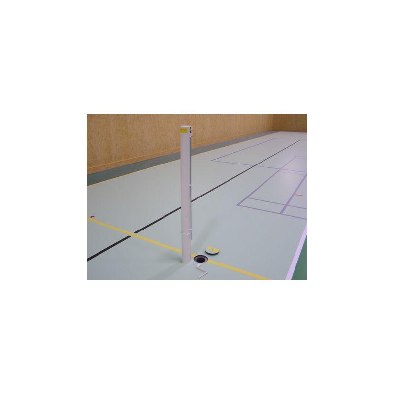 Tenisové sloupky - interiér (komaxit) prům.102 mm + pouzdra + víčka