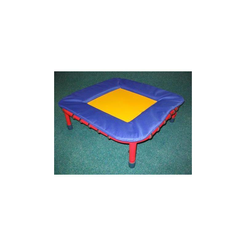 Trampolína gymnastická nastavitelná na 1 straně, 110x110 cm, pr. lano