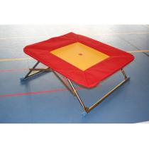 Trampolína gymnastická (školní) 110x110 cm - nastavitelná výška, pružné lano