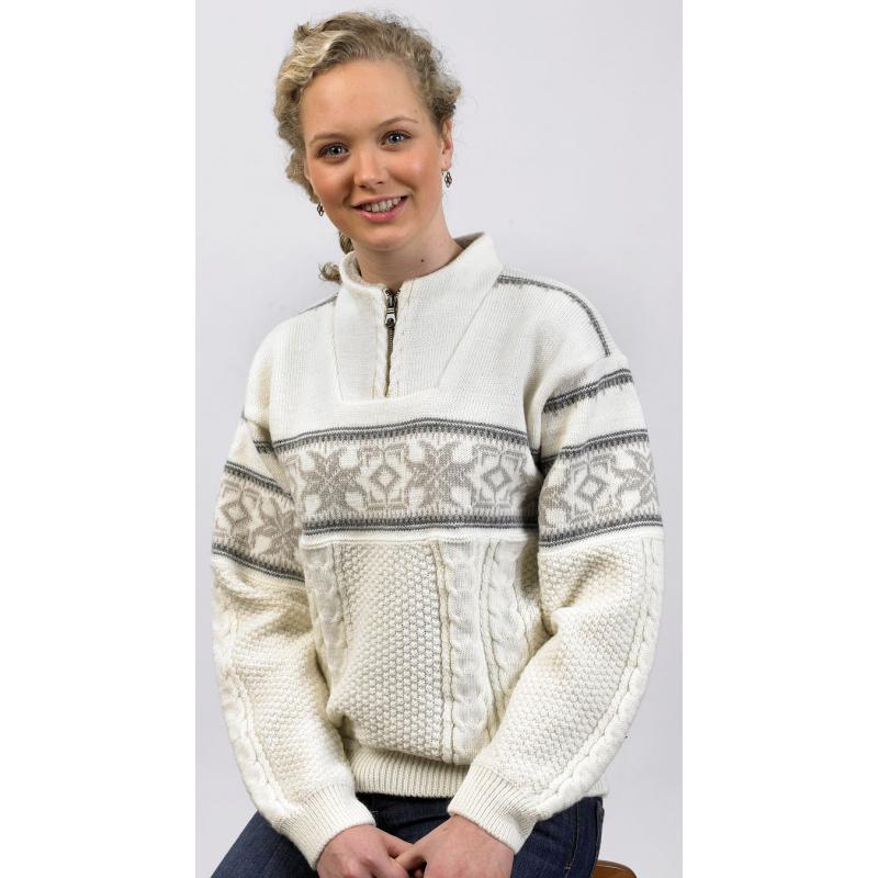 Unisex svetr Norlender HITRA bílý, norský vzor
