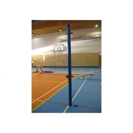 Volejbalové sloupky - interiér (komaxit), prům.102 mm + pouzdra a víčka, CERTIFIKÁT