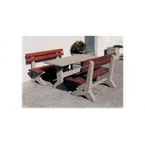 Zahradní posezení - 2 lavičky a stůl